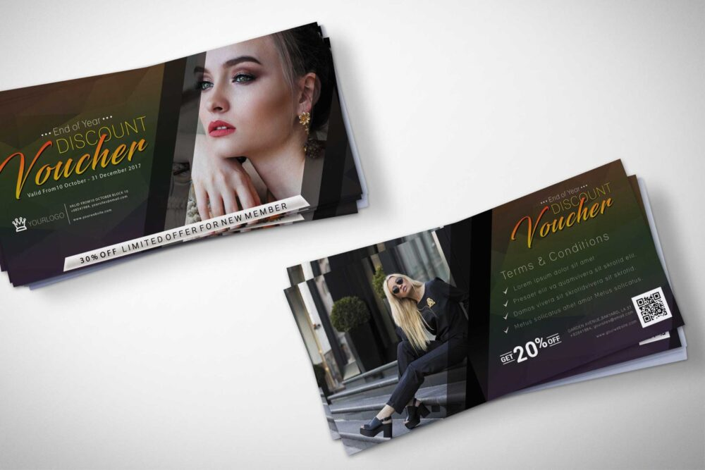 beauty Products Discount Voucher Mockup