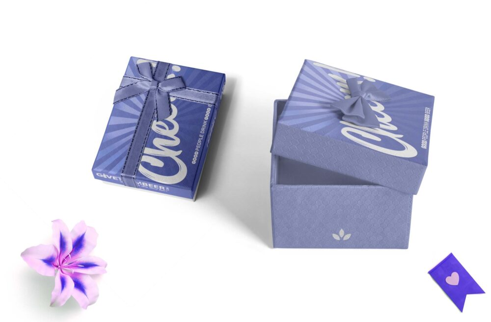 Exclusive trendy Gift Box Packaging Mockup