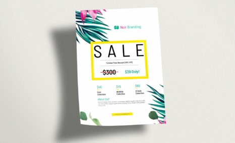 Attractive LimitedEdition Sale Flyer Mockup
