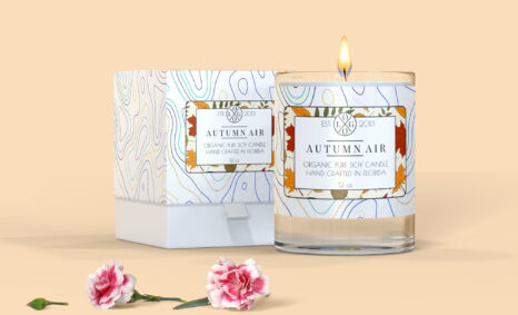 Hand Crafted Soy Candle Packaging Box Mockup