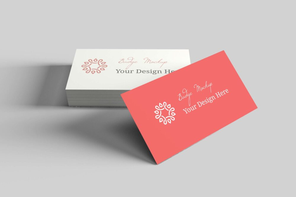 Vivid Designer Professional Business Badge Mockup