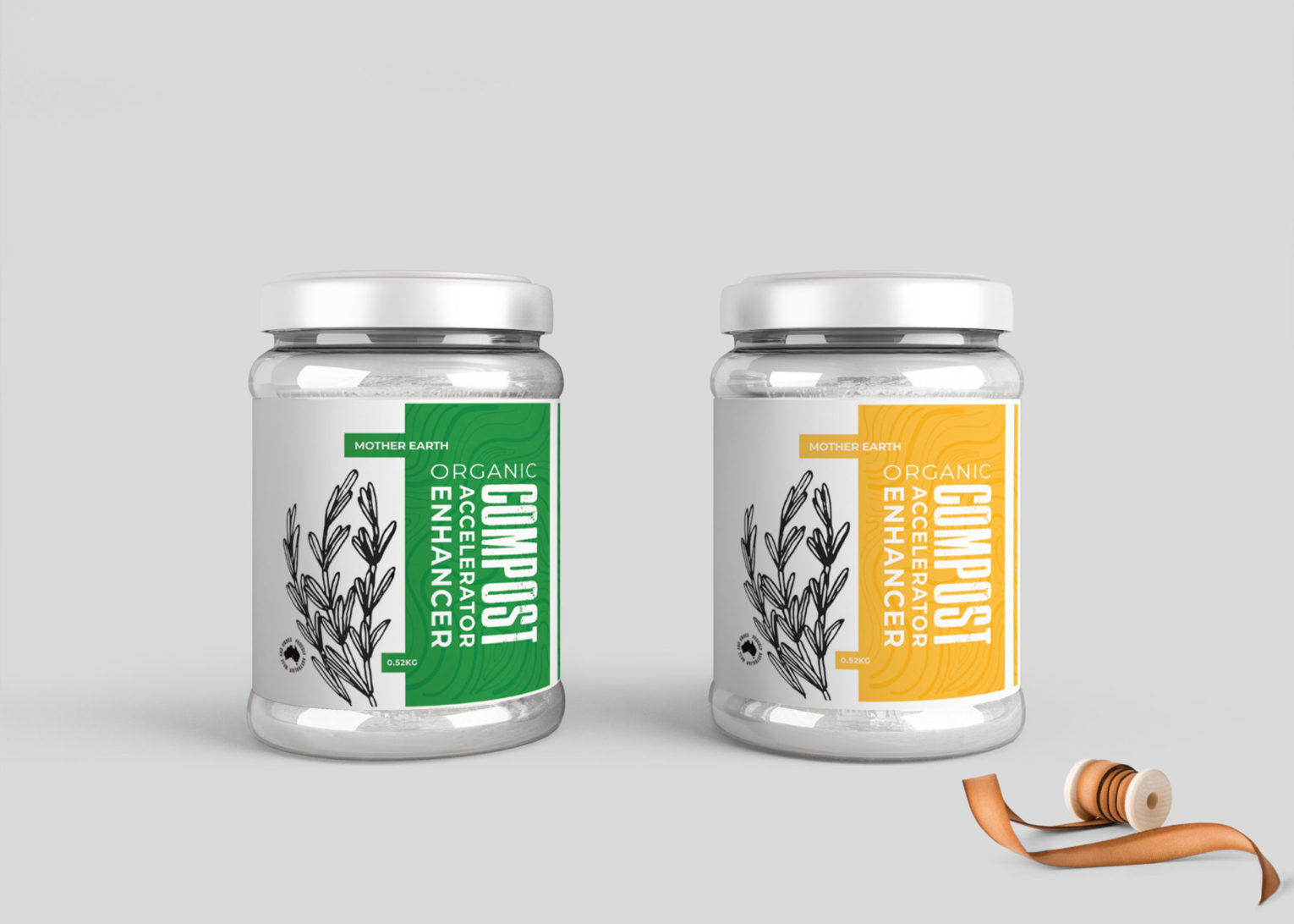 Organic Compost Enhancer Jar Mockup Collection