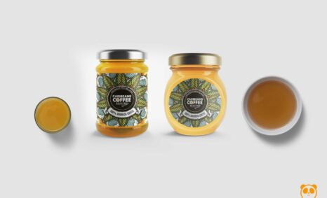 Alluring Mini Honey jar Bottle Mockup