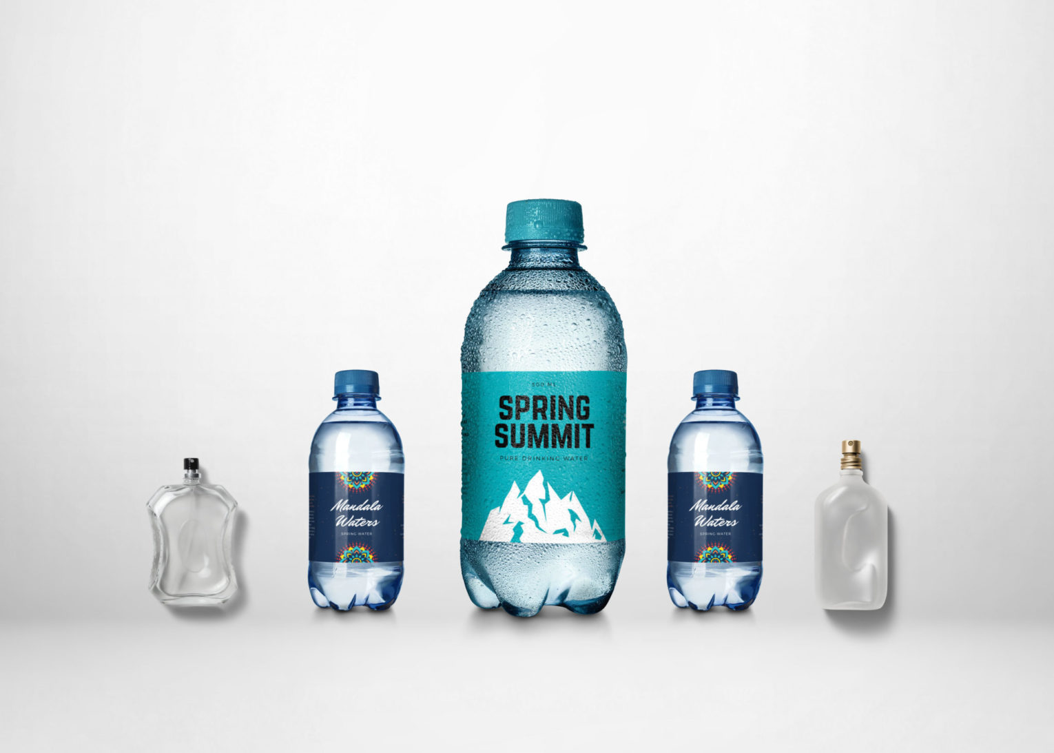 Clear Spring Summit Drining Water Bottle Mockup