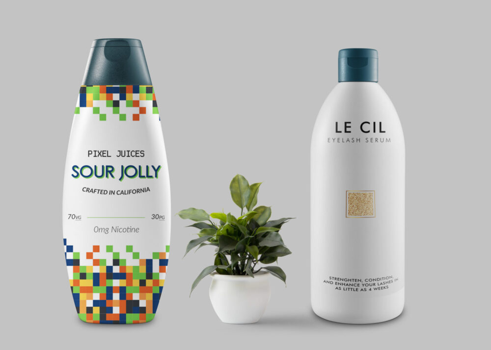 Nourishing Hair Serum Designer Bottle Mockup