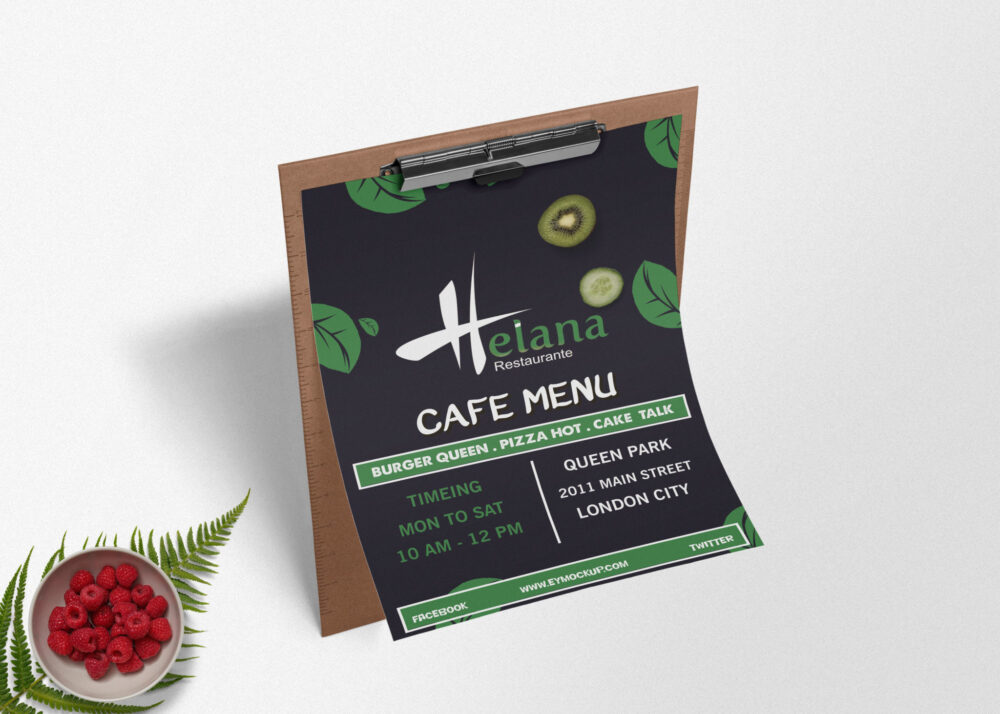 Best Food Menu Flyer Mockup Collection