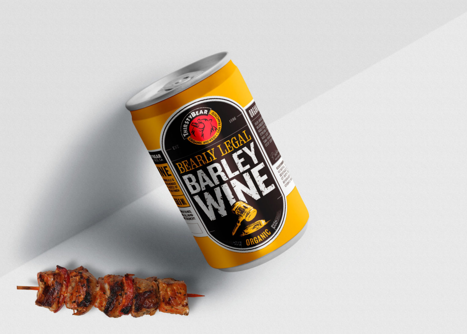 thirsty Beer Barley Wine Can Mockup