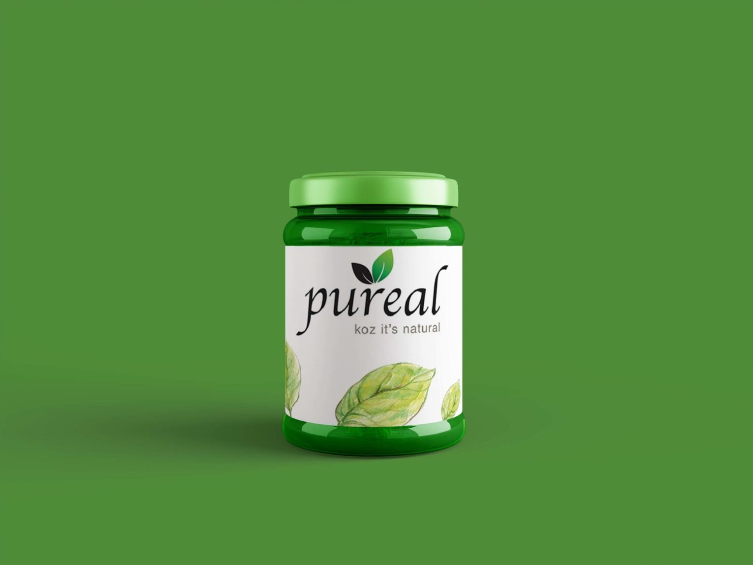 Pure pickle Jar Label mockup