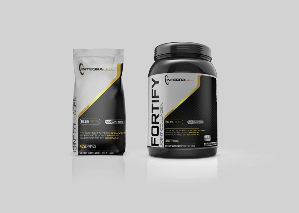 Fitness Supplement Protein Dietary Packaging Mockup