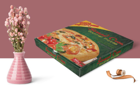 Exclusive Design Pizza Box packaging Mockup