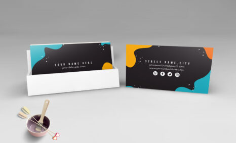 alluring Colorful Business Card Mockup