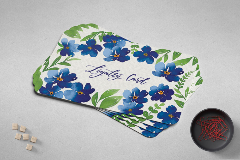Floral Professional Business Card Mockup