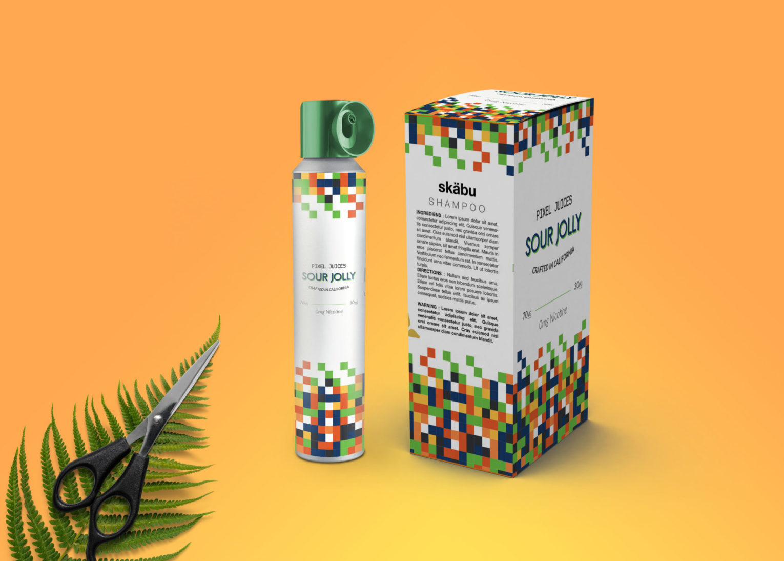 Jolly Hair Shampoo Bottle Packaging Mockup