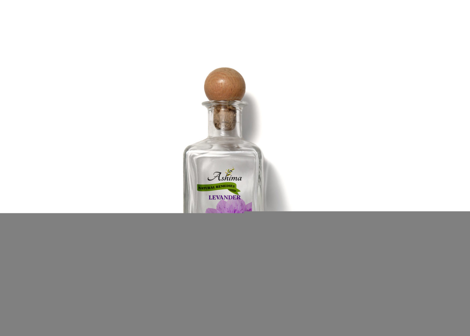 Lavender Scent Fragrance Mini Bottle Label Mockup