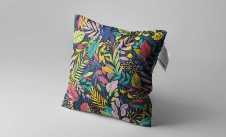 Colorful Floral Pillow Cover Design mockup