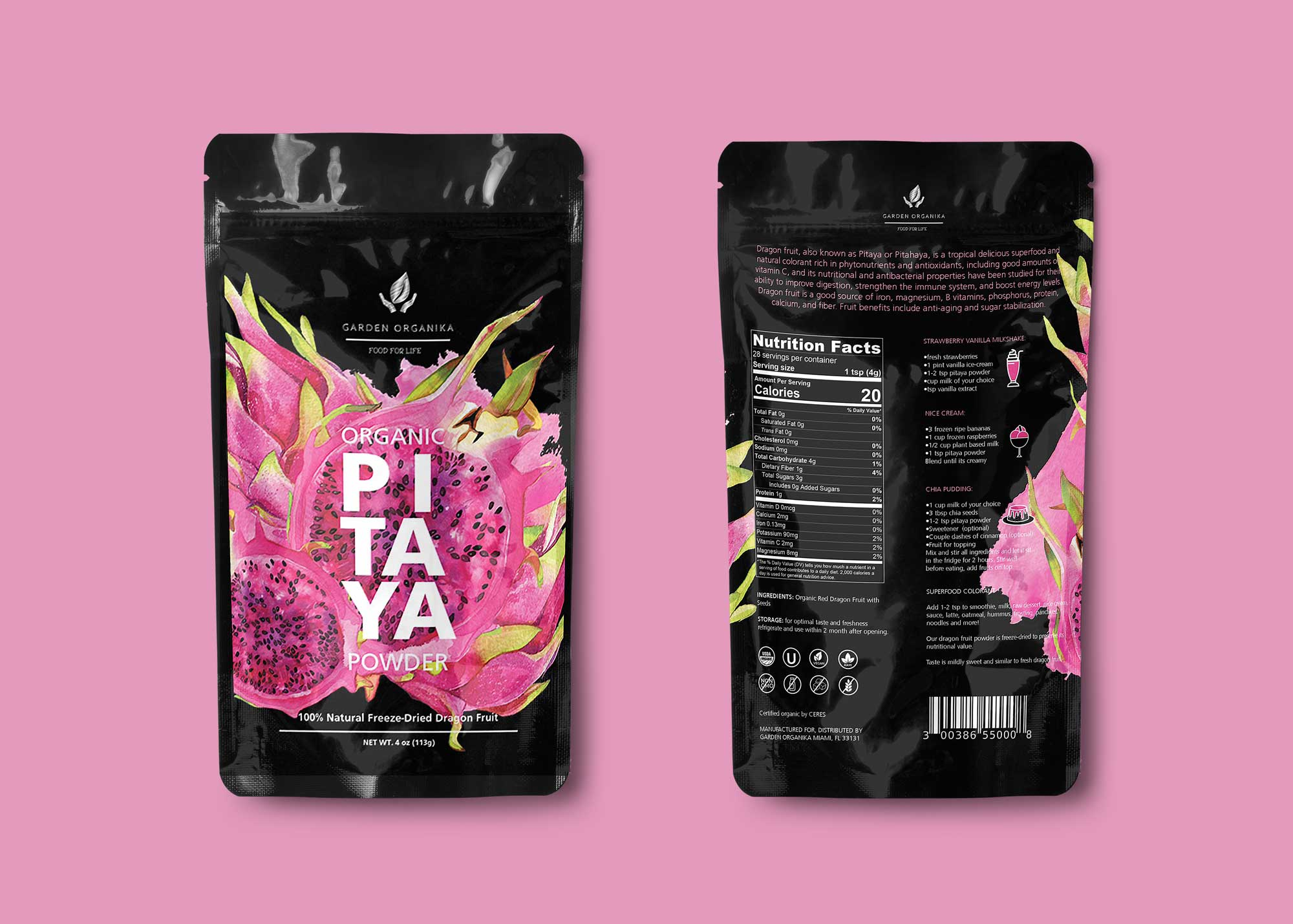 Dragon Fruit Pouch Mockup