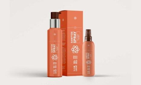 Sanitizer Spray Packaging Mock-up