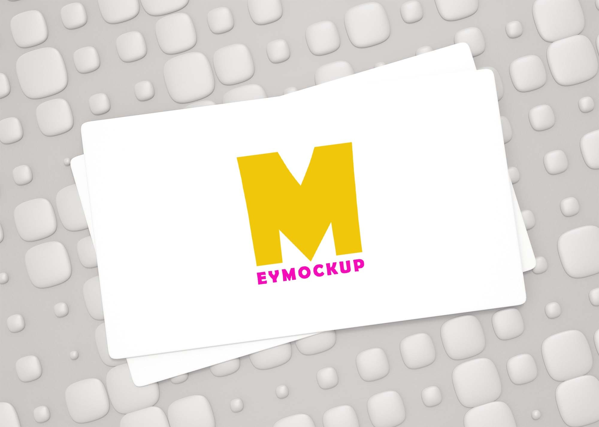 Free Abstract Visiting Card Logo Mockup
