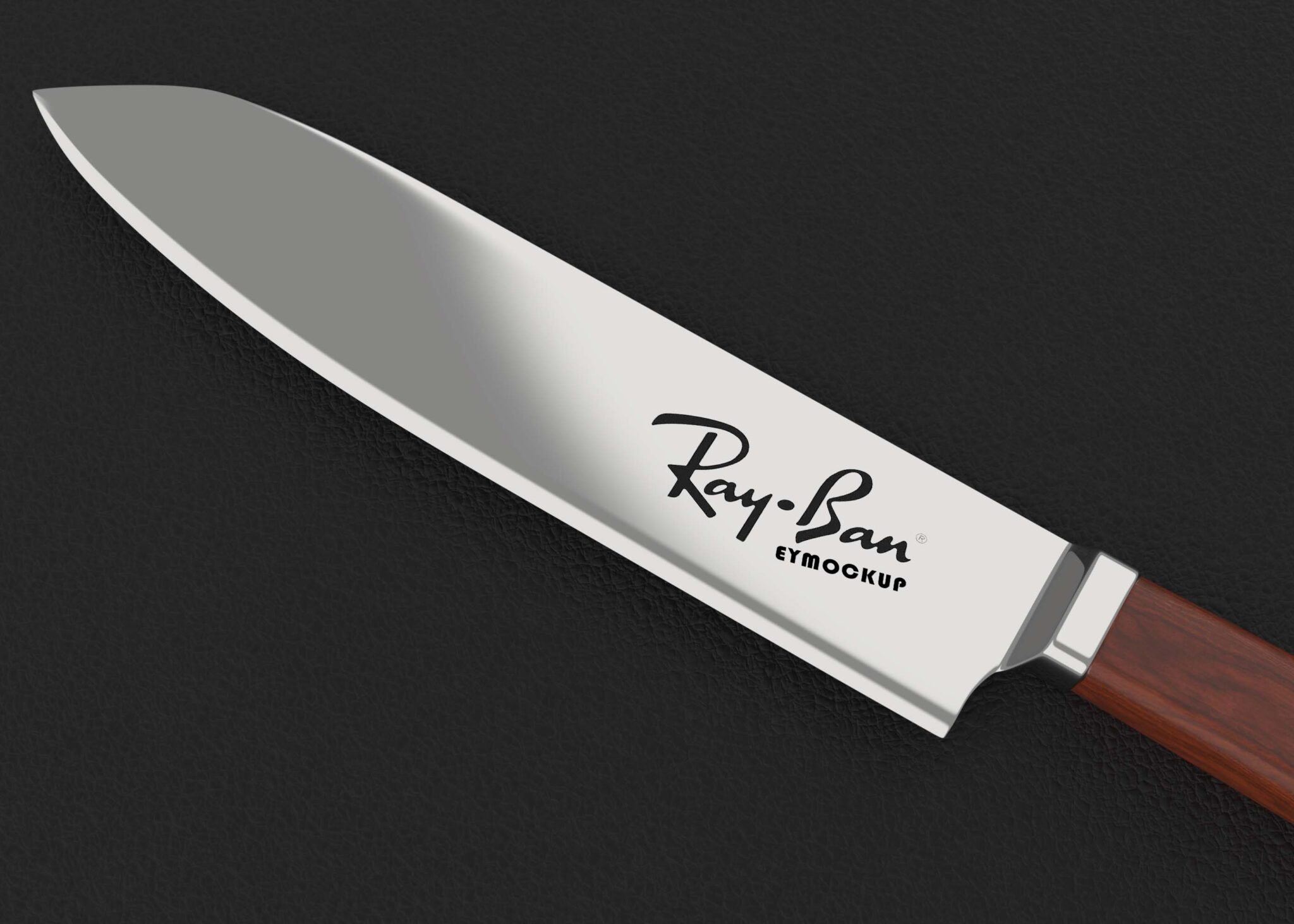 Free Chef Knife Logo Mockup