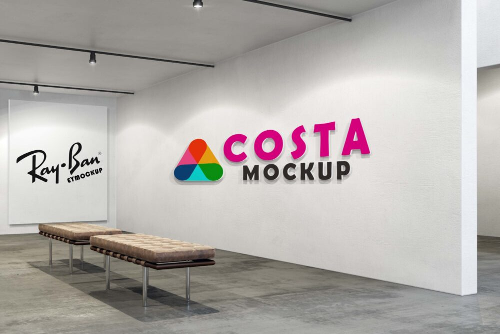 Free Empty Room Wall Logo Mockup
