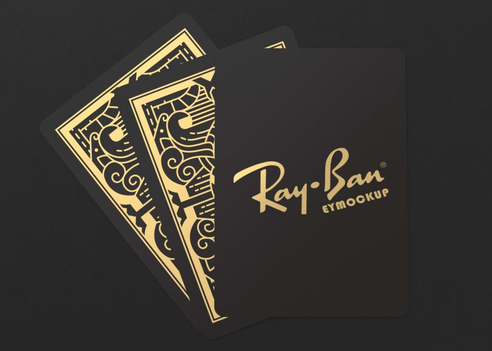 Free Playing Cards PSD Logo Mockup