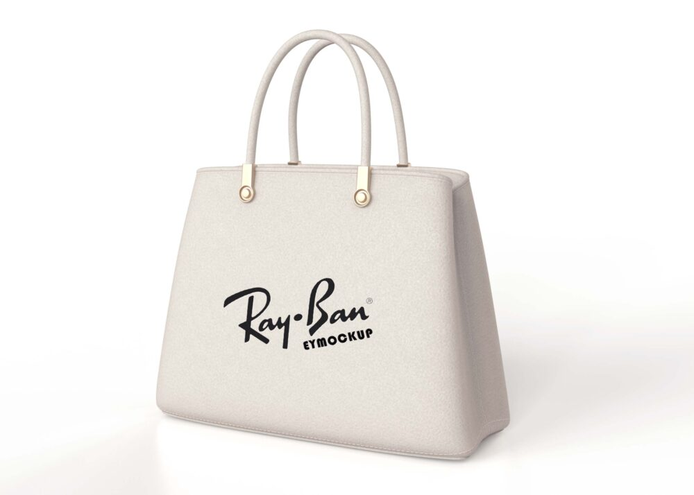 Free Purse White Bag Logo Mockup
