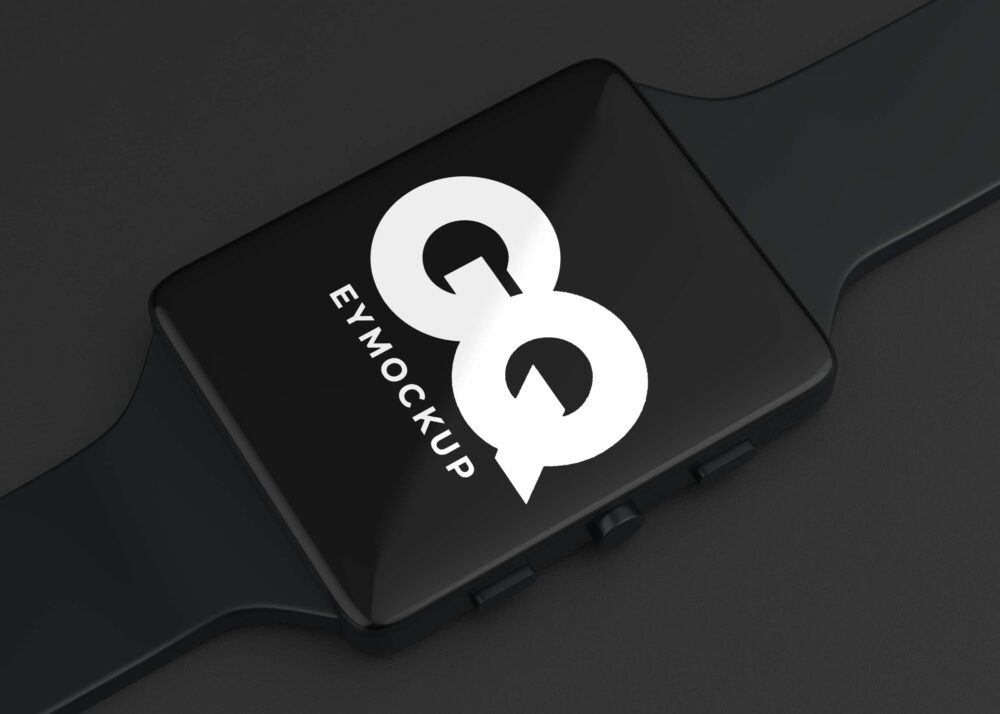 Free Smart Watch Logo Mockup