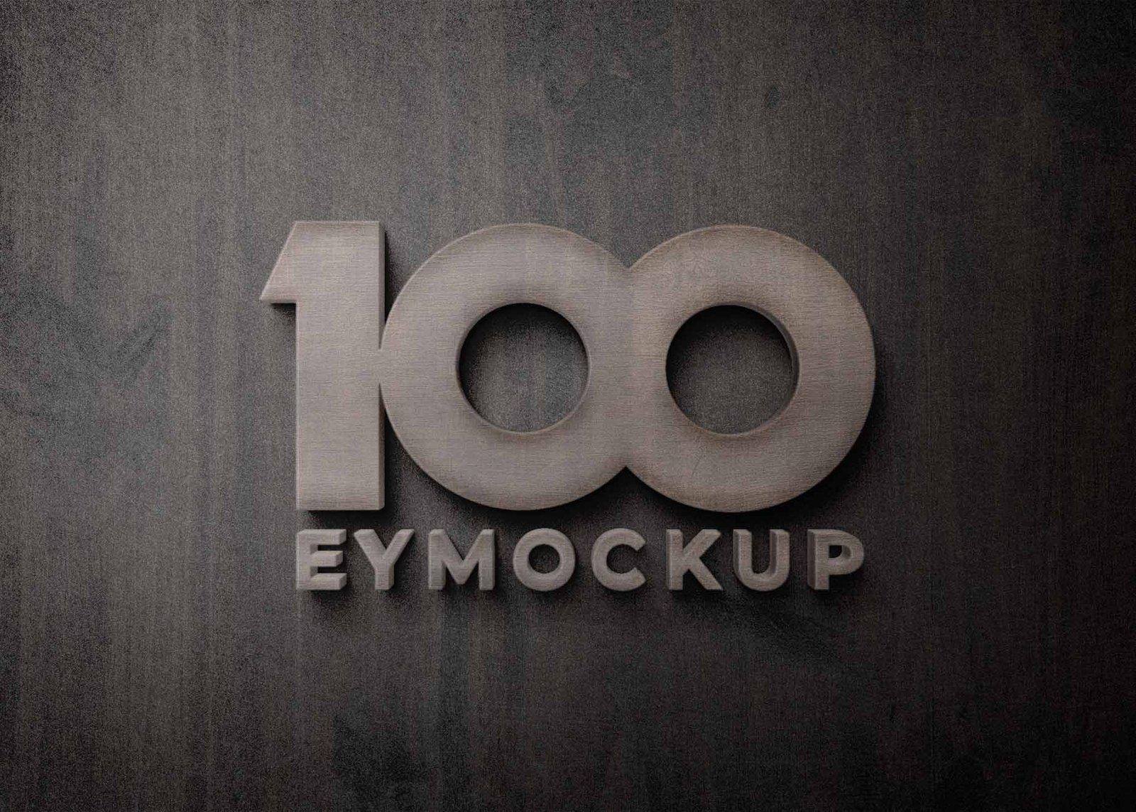 3D Logo Signage Wall Mock-Up