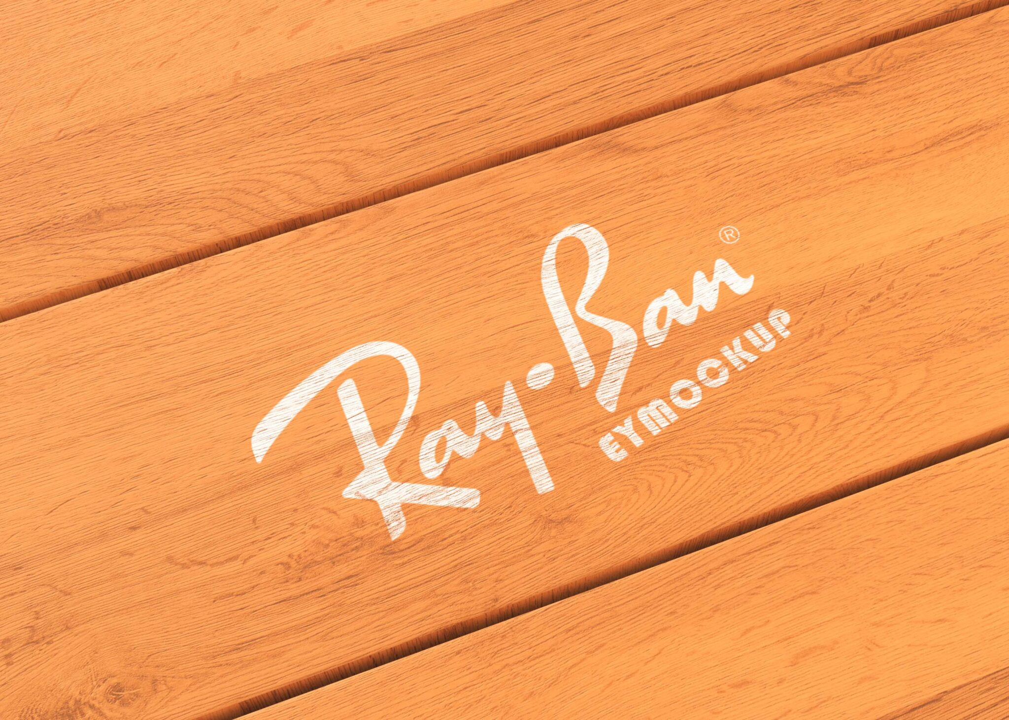 Engraved Wooden Logo Mockup