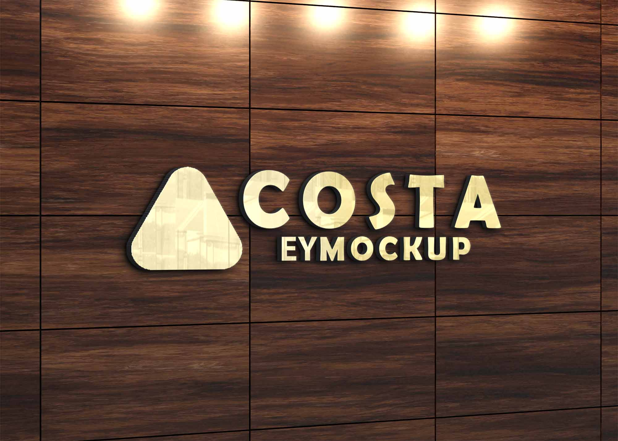 Free Light Clean Wood Logo Mockup